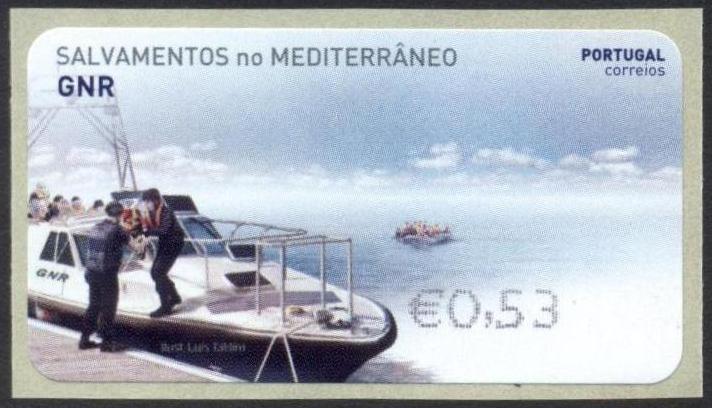 葡萄牙12月7日发行Marítima e GNR �C Salvamento de Migrantes