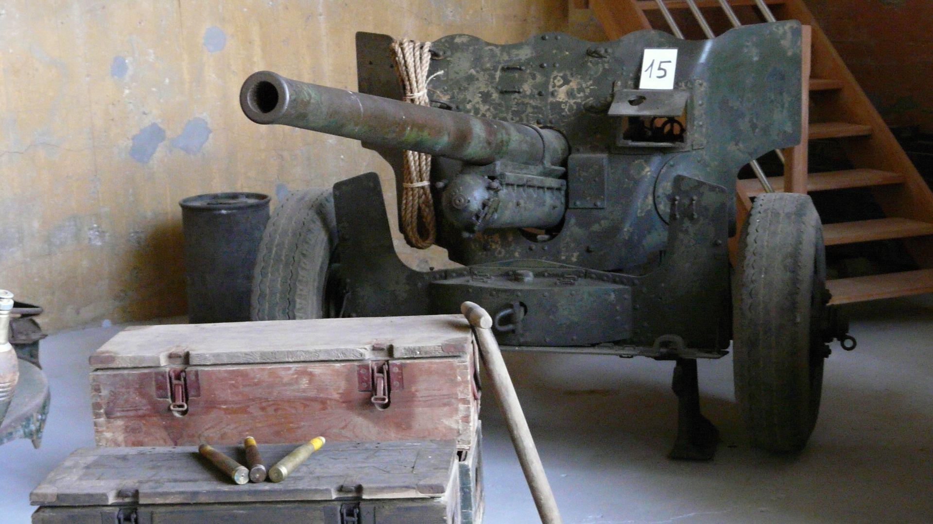 US M1 57mm Anti-tank gun.