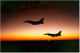 Dat de zon voor ons en voor de F16 niet te vlug moge ondergaan.