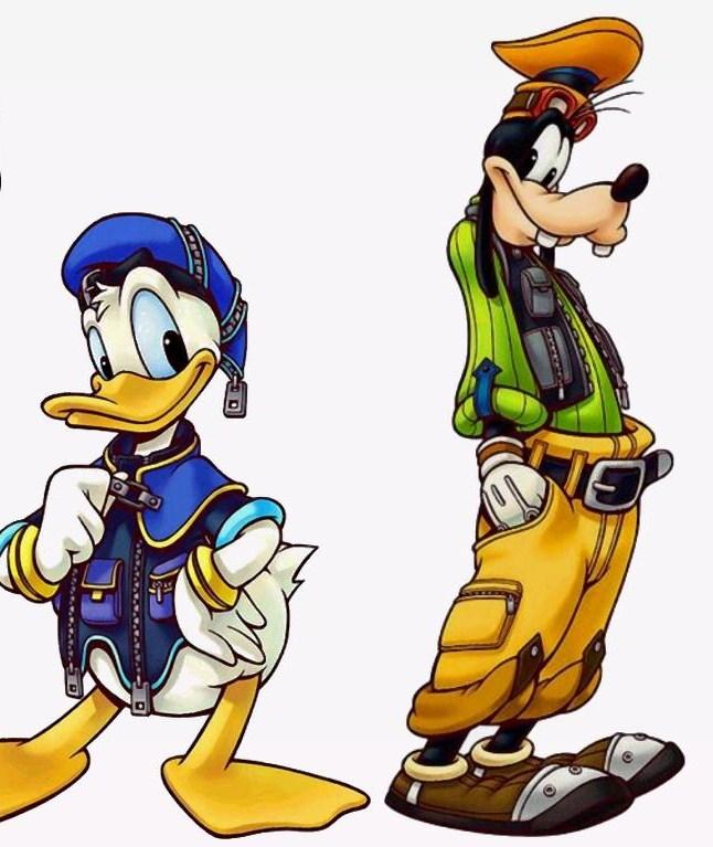 Kingdom hearts 1 2 3 - Donald et dingo ...